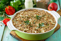 IN FORM, Rezepte, gesund, Buchweizen, Gemüse, Auflauf, Gemüseauflauf, Ziegenkäse, vegetarisch, vegetarisches Essen, Gesunde Rezepte, Gesunde Ernährung, ballaststoffreich