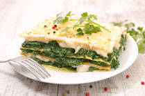 IN FORM, Rezepte, gesund, gesunde Ernährung, gesunde Rezepte, gesundes Essen, Lasagne, Spinat, Petersilie, Pasta, vegetarisch, vegetarisches Essen, vegetarisches Rezept, vegetarische Küche, Mittagessen, Abendessen, vegetarisches Mittagessen, Nudeln, Pasta