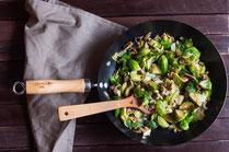 IN FORM, Rezepte, gesund, Rosenkohl, Pilz, Risotto, Reis, Gesunde Rezepte, Gesunde Ernährung