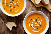 Rezept, IN FORM, gesund, gesundes Essen, gesunde Ernährung, Suppe, vegetarisch, vegetarisches Essen, vegetarische Rezepte, Möhren, Süßkartoffel