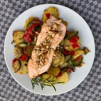 Rezept, IN FORM, gesund, Lachs, italienisch, Kartoffel