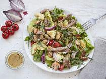Geprüfte IN FORM-Rezepte, IN FORM, gesunde Rezepte, gesunde Ernährung, gesundes Essen, gesund essen, gesund abnehmen, abnehmen, gesund kochen, DGE, Deutsche Gesellschaft für Ernährung, Rezept, Kochrezept, kochen, Salat, Salatrezept, Rind, Rindfleisch