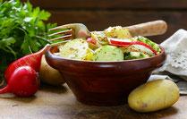 IN FORM, Rezepte, gesund, Kartoffelsalat, Kartoffeln, Salat, Beilage, grillen, Grillrezepte, gesunde Ernährung, gesunde Rezepte, Salatbeilage