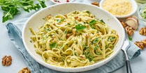 IN FORM, Rezepte, gesund, Wirsing, Walnuss, Nuss, Pasta, Nudeln, vegetarisch, Vegetarisches Essen, Vegetarische Rezepte, Vegetarisches Mittagessen, Gesunde Rezepte, Gesunde Ernährung