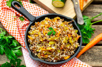 IN FORM, Rezepte, gesund, Ofengemüse, Salat, Gemüse, Buchweizen