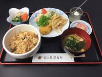 野菜村定食 茶の里野菜村 味飯味噌汁
