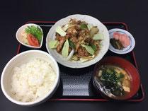 鶏ちゃん定食 茶の里野菜村 岐阜県東白川村