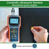 Metodo di controllo ad ultrasuoni con misurazione a punto singolo