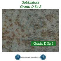 Grado di sabbiatura D Sa 2