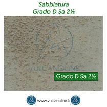 Grado di sabbiatura D Sa 2½