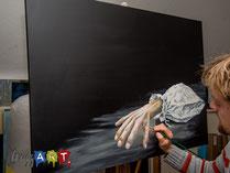 Lasierend malen mit Acrylfarben