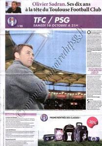 2010-10-16  Toulouse-PSG (9ème L1, Programme TFC N°5)