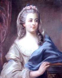 Louise Contat dans le rôle de Suzanne, portrait attribué à Greuze (vers 1786)