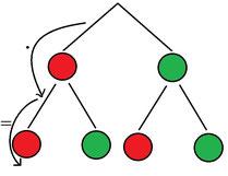 Veranschaulichung wie in einem Baumdiagramm gerechnet werden muss mithilfe der 1. Pfadregel