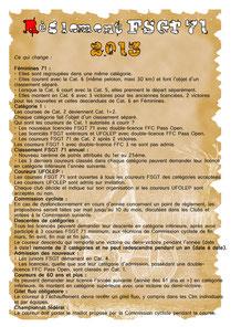 Vous pourrez lire ci-joint les modifications apportées et validées pour l'année 2013, suite à l'Assemblée Générale de la Commission FSGT.