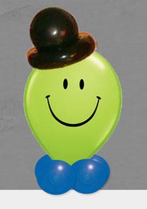 Luftballon Geschenk Ballon Smiley Kopf Geburtstag Party Kindergeburtstag Deko Dekoration witzig verschicken