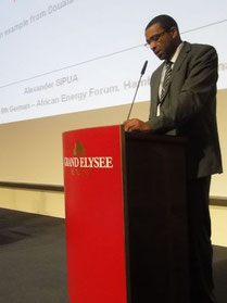 Alexander SIPUA Ngnoubamdjum, SIPUA CONSULTING  - Vortrag beim African Energy Forum in Hamburg, 2012