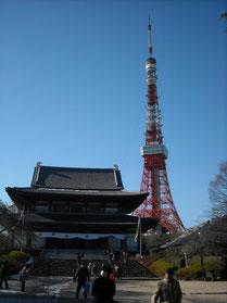 本殿と東京タワー