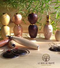 Le bois de Maffé - Bijoux et  accessoires de parfumerie en bois tourné
