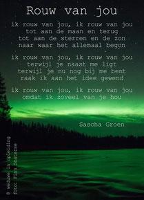 Gedicht Rouw van Jou - Weduwe in Opleiding - Sascha Groen