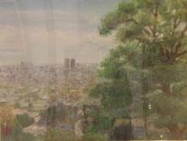 玉祖神社から市下を望む  パステル20号