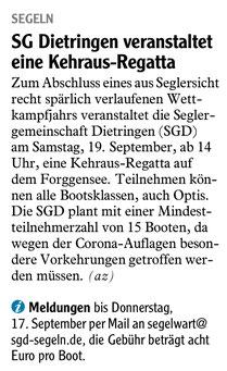 Allgäuer Zeitung vom 29.08.2020