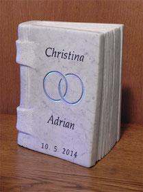 Hochzeitsgeschenk außergewöhnliches. Hochzeitsgeschenk aus Stein.