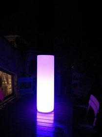 Location mobilier lumineux pour soirée cassis , Marseseille, Bouche du rhône, 13.