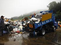 災害ゴミ荷卸し状況