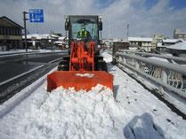 H29.01.13県道歩道除雪