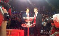 Davis Cup Gewinner auf der Showtruckbühne