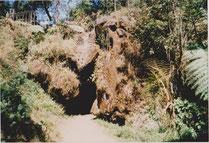 Heilige Höhle Gua Pengantin auf dem Dieng-Plateau, Kejaja- District, Wonosobo, Zentral Java, Indonesien
