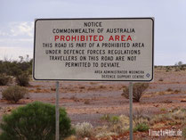 Australien - Outback - Motorrad - Reise - Camping - Woomera Prohibited Area