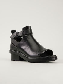 FERDINAND Open Toe Bootie coloris Black