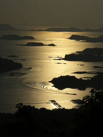 九十九島の夕凪