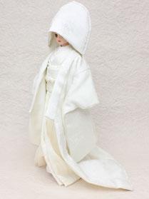 白無垢、ドール 白無垢、人形 打掛、着せ替え人形 婚礼衣装