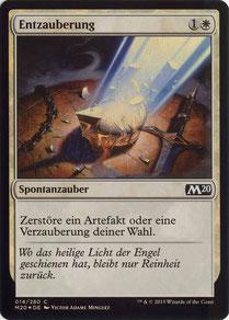 Disenchant German Core Set 2020 foil.
