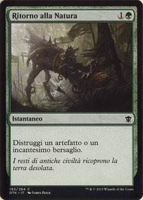 Naturalize Italian Dragons of Tarkir.