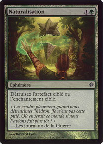 Naturalize French Rise of the Eldrazi foil
