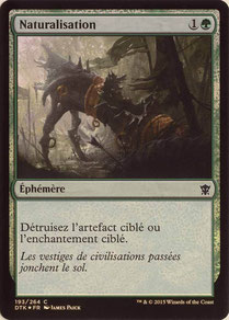 Naturalize French Dragons of Tarkir foil.