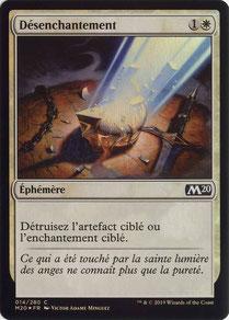Disenchant French Core Set 2020 foil.