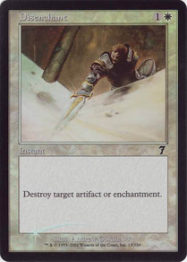 Disenchant English Seventh Edition foil. Made in the USA.