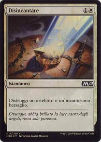 Disenchant Italian Core Set 2020 foil.