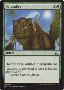 Naturalize English Rivals of Ixalan artist proof. Made in the USA.
