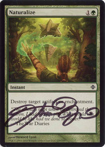 Naturalize English Rise of the Eldrazi artist proof