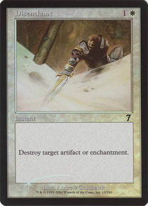 Disenchant English Seventh Edition foil. Made in Belgium.