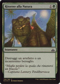 Naturalize Italian Rivals of Ixalan foil.