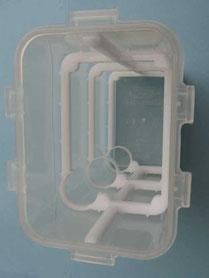 Posizionamento del telaio all'interno della vaschetta