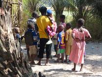 krankes Mädchen in Taayaki