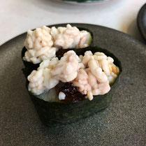 タラの白子 回転寿司では初めて